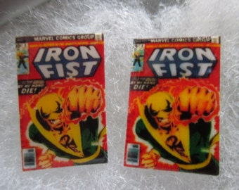 Iron Fist Comic Book Cover Cufflinks / Earrings