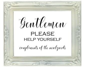 Mens Hospitality Basket Bathroom Wedding Sign Ladies Room Printable Reception