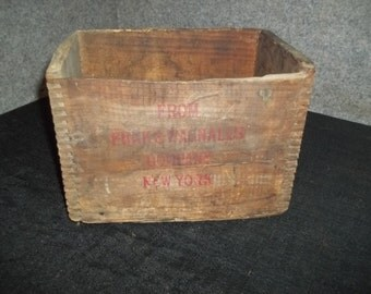 Vintage Literary Digest/Funk & Wagnalls Wood Crate