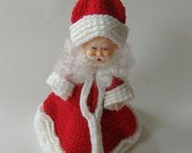 Santa Claus Air Freshener, Crocheted Santa Claus