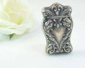Sterling Vintage Ornate Scroll Detailed Match Box - 15.3g