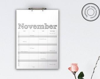 Family Calendar 'ARCHISTICO', black // A3