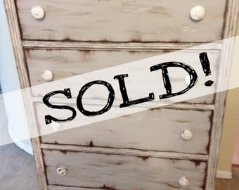 SOLD!!! Vintage Redone Shabby Chic Distressed Dresser ** FREE NYC delivery