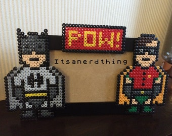 Batman and Robin Photo or Picture Frame  - Perler / Hama beads