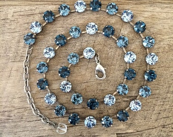 Stormy Sky Swarovski 8mm necklace choker