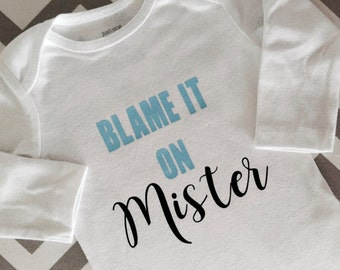 Blame It on the Dog Bodysuit, The Dog Did It, Personalized Baby Gift, Baby, Custom Pet Baby Gift, Customize with Pets Name