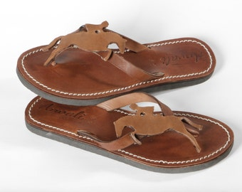 Horse riding Flip Flops Sandals Handmade Leather