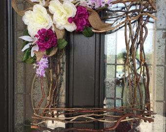 Beautiful rustic Square wreath- 18 inches