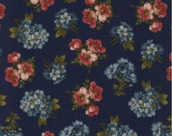 Kensington Cotton Flannel Fabric Small Floral Blue  Windham Fabrics