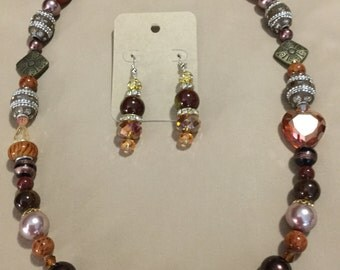 La'Faye Regal Designs by Dana Brassy Brown Necklace Set