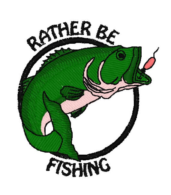 I 39 d rather be fishing embroidery design 4x4 hoop by for Rather be fishing