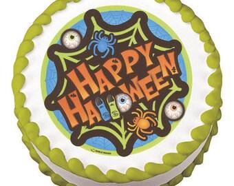 "Happy Halloween - Edible Cake Topper - 6"" *FREE SHIPPING*"
