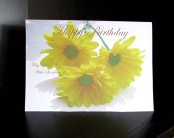 Printable Birthday Card - 5 x 7 - Sunshine & Flowers