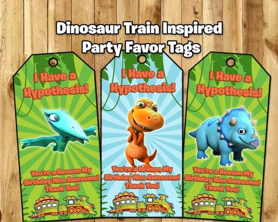 Dinosaur Train Inspired Favor Tags - Dinosaur Train Birthday Party Favor Tags - Dinosaur Train Loot Bag Tags Dinosaur Train Favor Tags