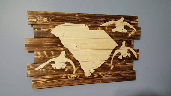 State of south carolina duck hunting waterfowl art south for Hunting bathroom accessories