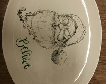 Believe- Santa Plate