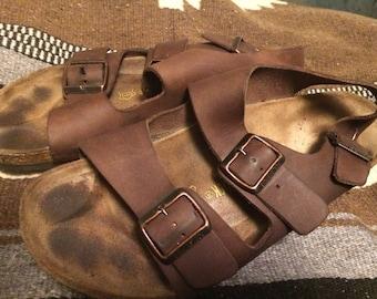 Birkenstock Mens Sz43/US 10slip on leather  sandals