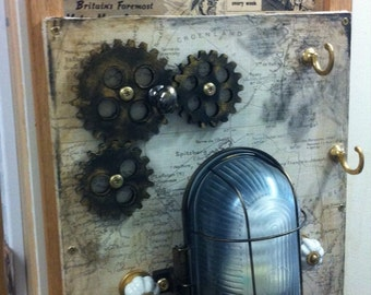 Steampunk Wall Light