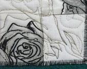 Lo, How A Rose ~ a small wall art quilt, perfect for Prom season, Spring, sophisticated and classy while fun and fresh in style and message