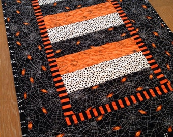 Halloween Reversible Quilted Table Runner Topper