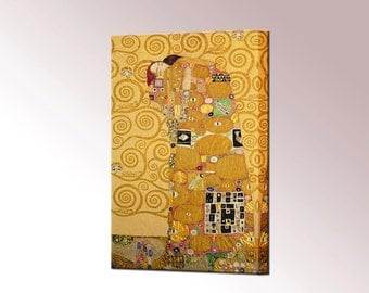 Gustav Klimt Fulfilment Canvas Wall Art Print Picture Ready To Hang