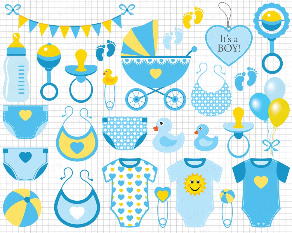 baby boy clip art scrapbook invitation baby shower baby boy shower