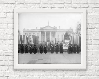 Suffragettes Picketing the White House - 1917 - Washington DC - Feminist Art - Feminism - Women's Rights - Art Photography - Woman - Capitol
