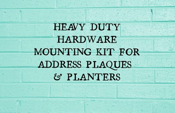 Add-On * Heavy Duty Hanging Hardware for Address Planter Plaque