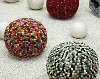 round balls rug puff ottoman/poof.floor cushion seating available in many colors