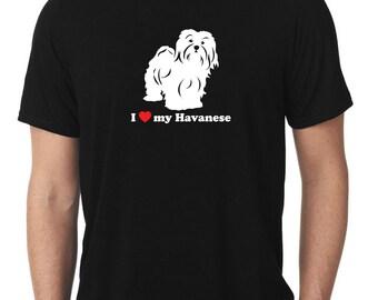 I Love My Havanese T-Shirt blanquito T348