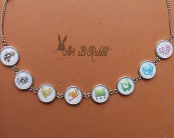 Fairy Tail Necklace Adjustable Handmade