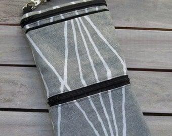 iPhone 6 Plus, Galaxy Note 4 Otterbox Gray Wristlet Wallet; Wristlet Pouch; Large Cell Phone Wristlet; Cell Phone Purse; Clutch