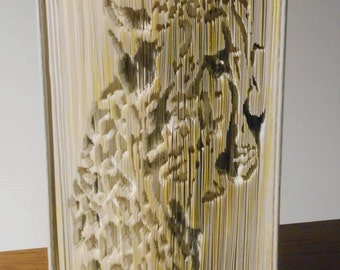 Cheetah cut and fold book folding pattern