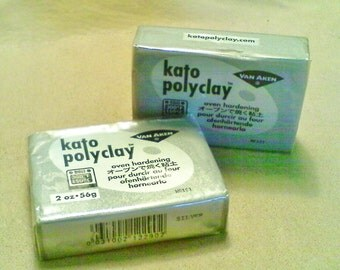 Kato polymer clay; 2oz. bar of metallic silver Kato polymer clay, 1/2.40.