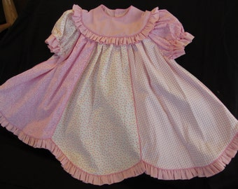 Easter Dress Pink Dress with Ruffles  Size 2