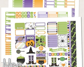 Halloween printable stickers for use in Erin Condren planner,Holiday stickers,weekly sticker kit,planner printable,instand download,october