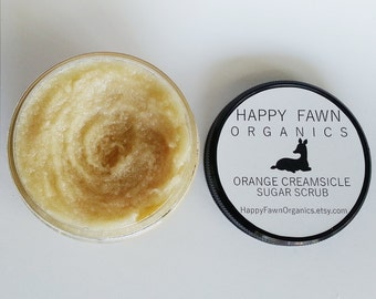 Orange Creamsicle Sugar Scrub ~ Organic Vegan Exfoliation