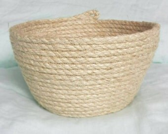 Rustic Sisal Rope  Basket  (small)