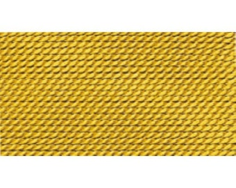 100% Silk Beading Thread, Amber, Size 6, 10 Pack | BDC-238.06
