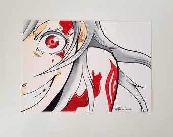 Deadman Wonderland Shiro drawing print