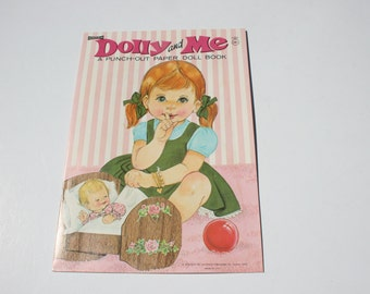 Vintage Dolly and Me  Paper Dolls, 60s 1960s Paperdolls, Uncut Cutouts Paper Doll Booklet