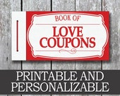 Printable Love Coupon Book, Boyfriend Birthday Gift, Anniversary Gift for Him, Last Minute Gift for Husband, DIY Birthday Gift for Him