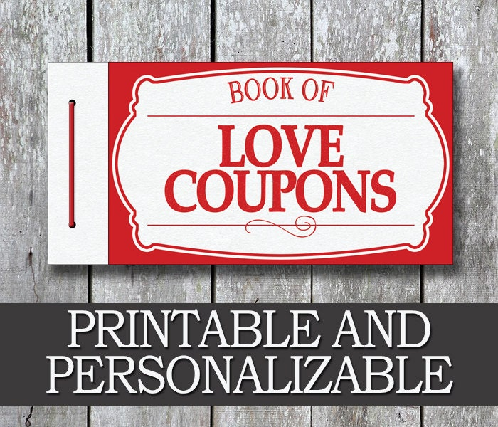 Romantic Anniversary Gift Girlfriend Gift Coupon Book: Printable Love Coupon Book Gift For Him PDF Anniversary
