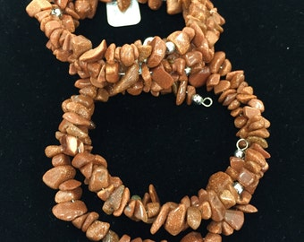 Goldstone Wire Wrapped Bracelets