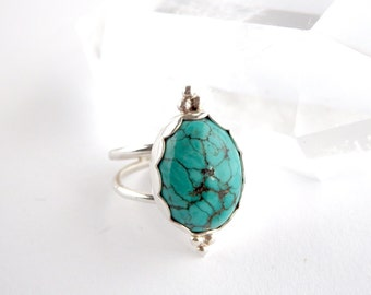 Turquoise Ring - double band