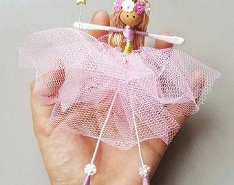 Pink ballerina fairy doll