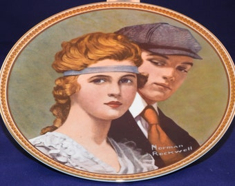 """Vintage Norman Rockwell """"Meeting on the Path""""  Collectible Plate"""