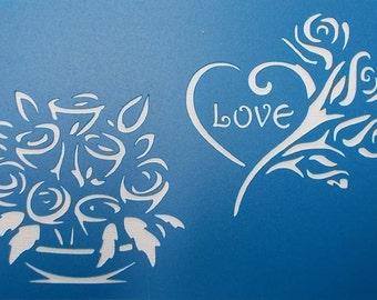Rose Love Stencil