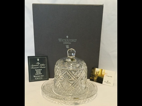 FREE SHIPPING-New In Box-Waterford Crystal-Samuel Miller-Dessert Dome-Special Release-Waterford Society-In Original Box