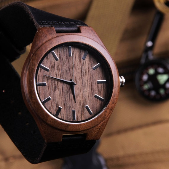 mens watches wooden personalized gift groomsmen